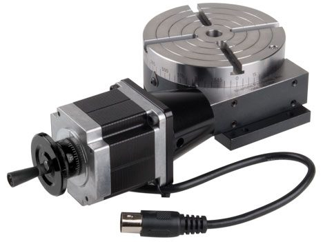 CNC Rotary Table with Stepper Motor – Sherline Products